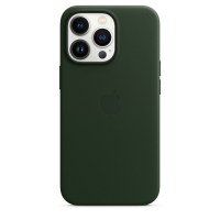 Apple iPhone 13 Pro Leder Case Schwarzgrün