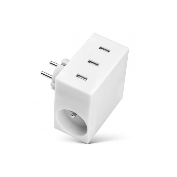 usbepower HIDE 5-in-1 wall-charger, weiß