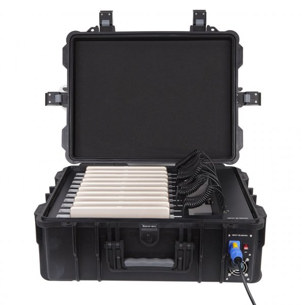 DEQSTER Tablet-Koffer KT10C für 10 iPads oder Tablets mit integr. USB-Lademodul
