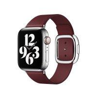 Apple Modernes Lederarmband Granat