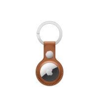 Apple AirTag Schlüsselanhänger Sattelbraun