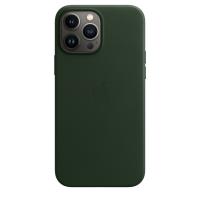 Apple iPhone 13 Pro Max Leder Case Schwarzgrün