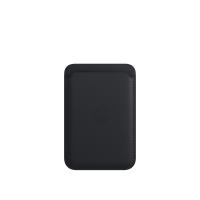 Apple iPhone Leder Wallet Mitternacht