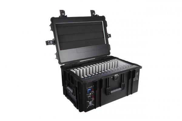 DEQSTER Tablet-Koffer KT16S für 16 iPads oder Tablets mit integr. USB-Lademodul