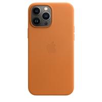 Apple iPhone 13 Pro Max Leder Case Goldbraun