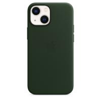 Apple iPhone 13 mini Leder Case Schwarzgrün