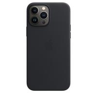 Apple iPhone 13 Pro Max Leder Case Mitternacht