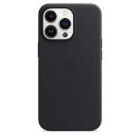 Apple iPhone 13 Pro Leder Case Mitternacht