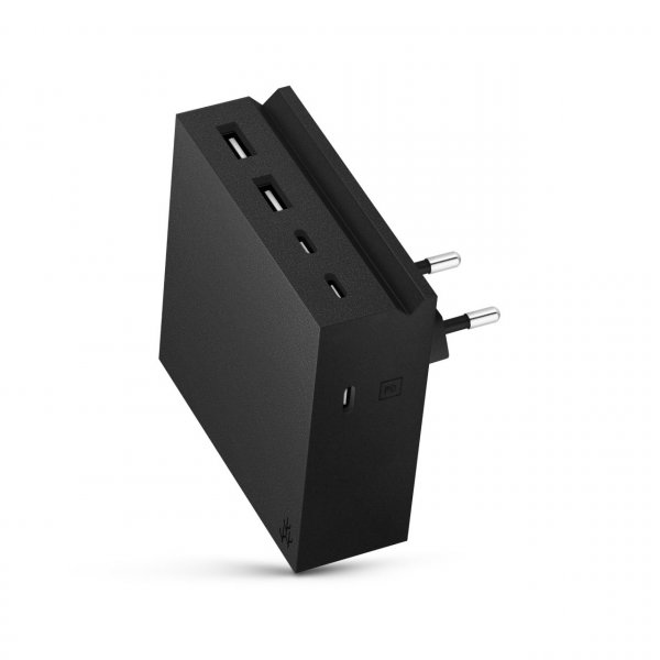 usbepower HIDE PD 57W 5-in-1 wall-charger, schwarz