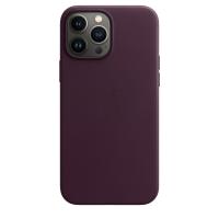 Apple iPhone 13 Pro Max Leder Case Dunkelkirsch